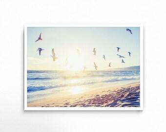 Beach Print, Beach Photography, Beach Wall Art, Beach Decor, Tropical Decor, Modern Wall Art, Home Decor, Printable, Poster, Large Wall Art