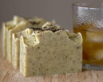 Vanilla Bourbon Shea Butter Soap | Men's Soap | Palm Free Natural Soap | Cold Process Soap | Cocoa Butter Soap | Vegan Soap | Gift For Him