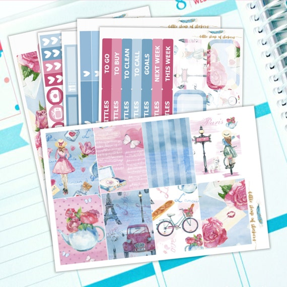Love In Paris || Happy Planner Sticker Kit, Planner Stickers, Paris Planner Kit, Planner Sticker Kit, Stickers For Planners
