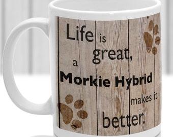 Morkie Hybrid dog mug, Morkie Hybrid gift, dog breed mug, ideal present for dog lover