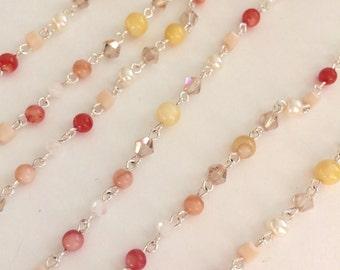 Chanel type necklace orange