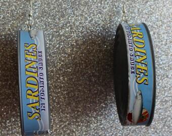 Sardine Tin Earrings