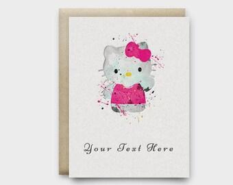 Birthday Invitation, Baby girl, Custom Birthday Invitation, Printable Card, digital file, Birthday Card,Birthday Invites,Watercolor painting