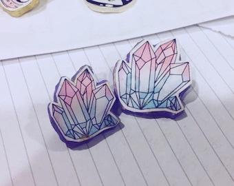 Cutesy crystal pin (small)