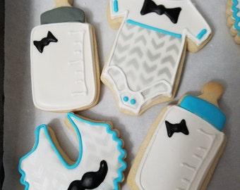 Baby Mustache Cookies