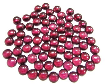 10 pcs Lot 6 mm RHODOLITE GARNET Round Cabochon Smooth polished gemstone