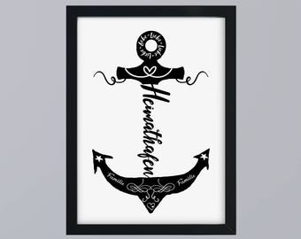 Anchor home port - unframed art print