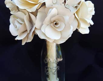 Ivory Paper Flower Bouquet