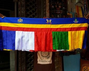 Tibetan shambu/5 color/high quality/wall hanging/shrine room decor/5 mtrs long