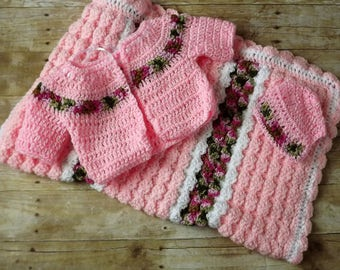 pink camo layette