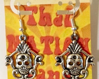 USA FREE Shipping!! That NATION Band  Skull Earrings
