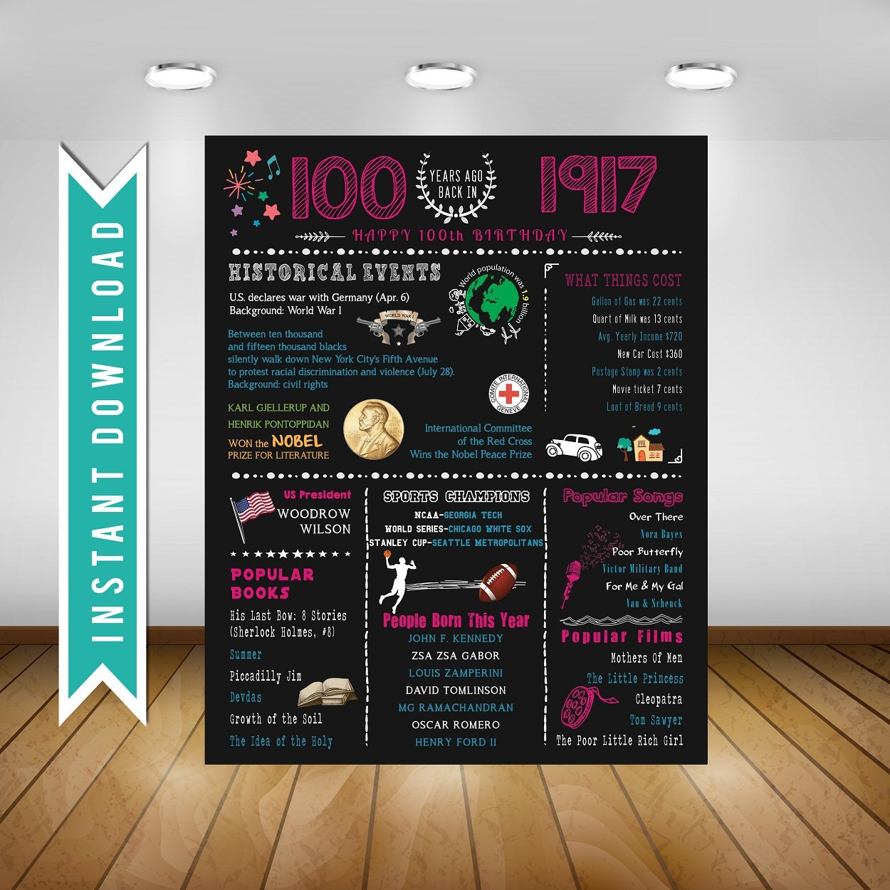 100th Birthday Decorations Instadecorus