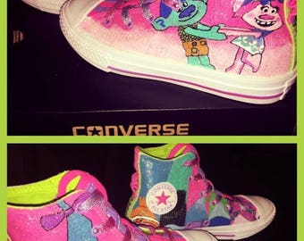 Hand Painted Trolls Converses