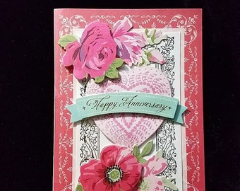 Handmade Greeting Card - Happy Anniversary