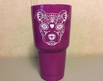 Pitbull Sugar Skull Decal