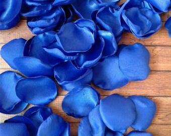 Royal blue wedding etsy royal blue wedding royal blue petals rose petals satin rose petals wedding junglespirit Choice Image