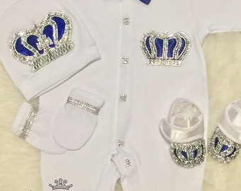 Take Home Outfit Baby Boy Coming Home Outfit Baby Boy Coming home outfit Crown Jewels