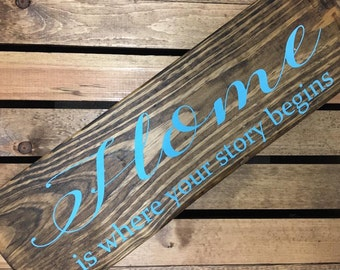 Home is Where Your Story Begins Sign