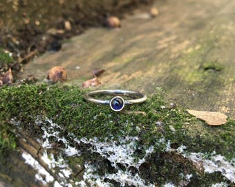 Sterling Silver Iolite Midi Pinky Ring