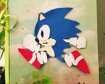 sonic the hedgehog card