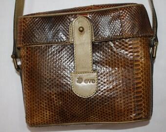 Python snakeskin bag