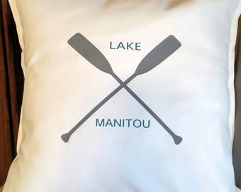 Accent Pillow-Throw Pillow-Personalized Pillow-Reversible Lake Pillow-Life Is Better At The Lake-Personalized Lake Name