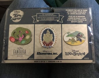 Disney 30 anniversary pin set- week 5