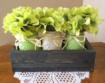 Mason Jar Centerpieces, wedding centerpieces, housewarming gifts, wedding gifts, dining table centerpieces, kitchen table centerpiece, party
