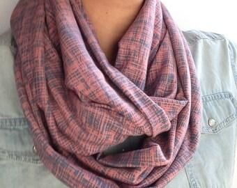 circle scarf women in elastic knit fabric