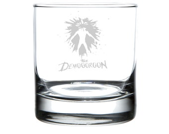 Stranger Things, Laser Etched Rocks Glass, Personalized Glassware