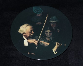 """1996 Knowles Rockwell Heritage """"The Master Violinist"""" Collector Plate by Norman Rockwell"""