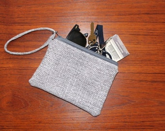 Grey Check Clutch