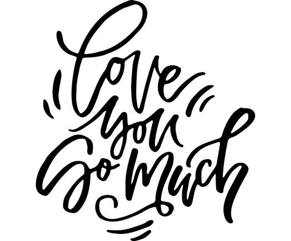 Download Love You So Much Printable Quote Frame Wall Marriage ...