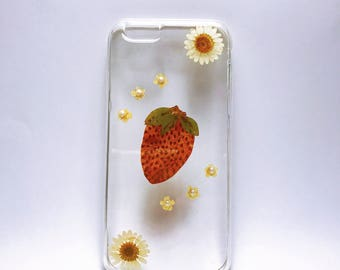 Clearance, 50% off Pressed Flowers Iphone cases,dry flowers iphone cases,iPhone 5, 5s, 6, 6s, 6+, 6+s, 7, 7+ case