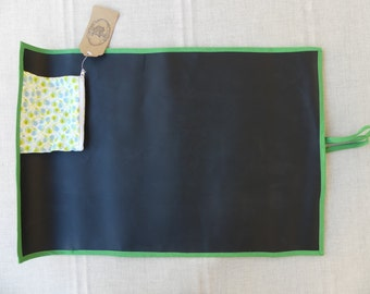 Roll-up chalkboard, Patchwork, Handmade, Portable chalkboard, Gifts for kids, Personalized gift, Birthday gifts, Chalk Mat