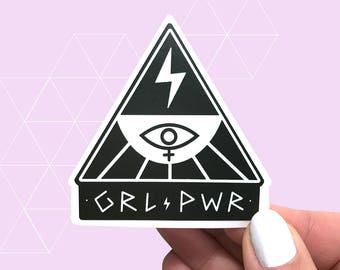 Girl Power Feminist Vinyl Sticker