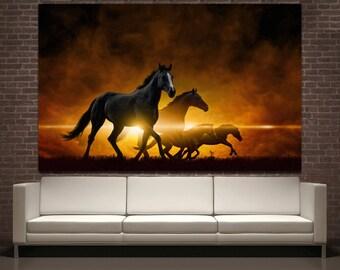 Wall Art Horses horse canvas print | etsy