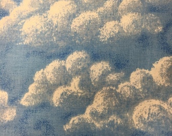 Blue Clouds Cotton Fabric