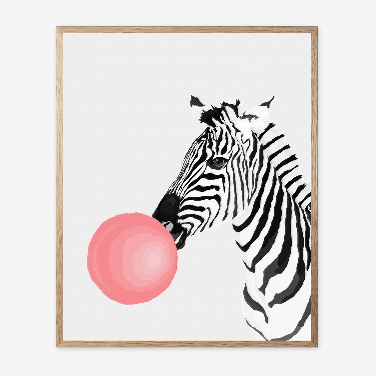 zebra print zebra decor nursery animal wall art kids room. Black Bedroom Furniture Sets. Home Design Ideas
