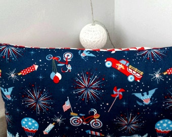 Boy Cushion cover, Riley Blake fabric, room decoration