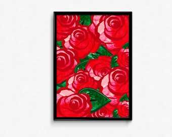 Rose Wall Decor rose wall decor   etsy