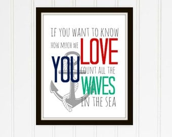 Count the Waves Nautical Nursery Printable