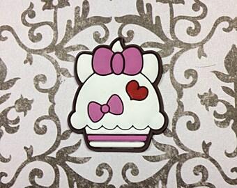 cat cupcake cabochon