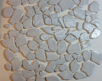 Rock-Shaped Ceramic Tiles for Mosaics
