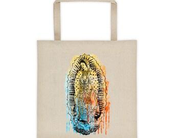 Virgen de Guadalupe Tote, Virgin Mary Bag, Canvas Tote