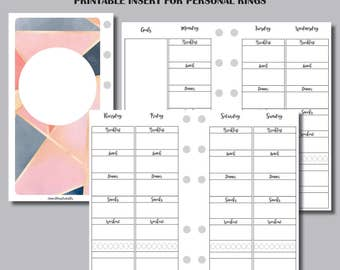WELLNESS TRACKER Printable Insert for Personal Ring Bound Planner
