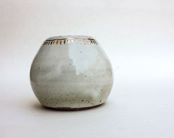 Gold and White Bud Vase