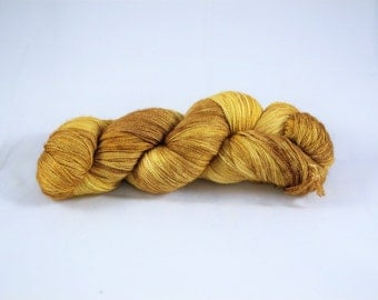 Norse Gold - Hand Dyed Lace Weight Yarn