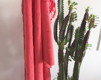 STONEWASHED- Rose-  organic cotton Turkish towel / throw - postage from AU