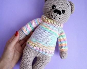 Crochet Amigurumi Cuddly Bear Toy,Crochet Amigurumi Bear Stuffed Toy, Crochet Bear, Teddy Bear, Teddy Bear Toy, Crochet Bear, Handmade Bear